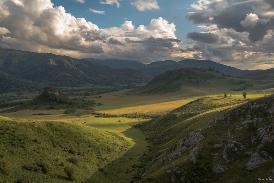Nice evening in the Altai mountains
