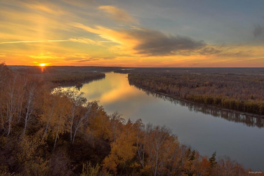 Autumn river view