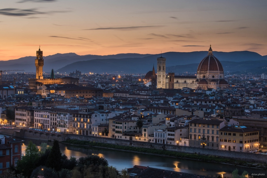Florence in the twilight