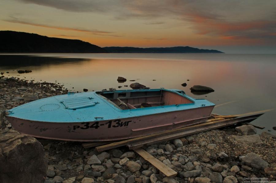 Sunset over the Baykal Lake