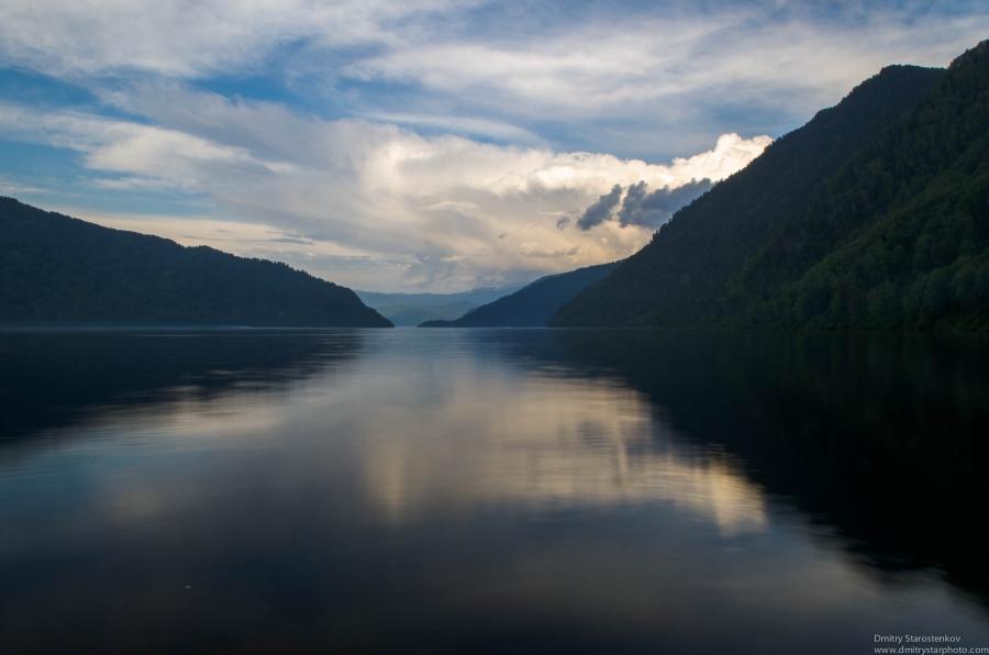 Landscape of Lake Teletskoye