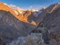 Sunrise over the Aktru Valley