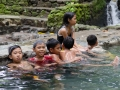 Kids in the thermal spring