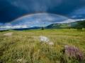 Rainbow in the Ulagan Valley